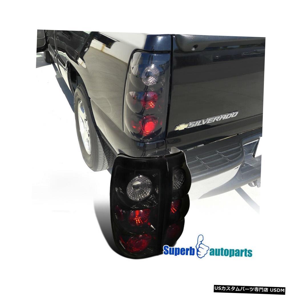 Tail light 1999-2002のSilverado / GMC Sierra Fleetside Tail Brake Lights Glossy Black For 1999-2002 Silverado/ GMC Sierra Fleetside Tail Brake Lights Glossy Black