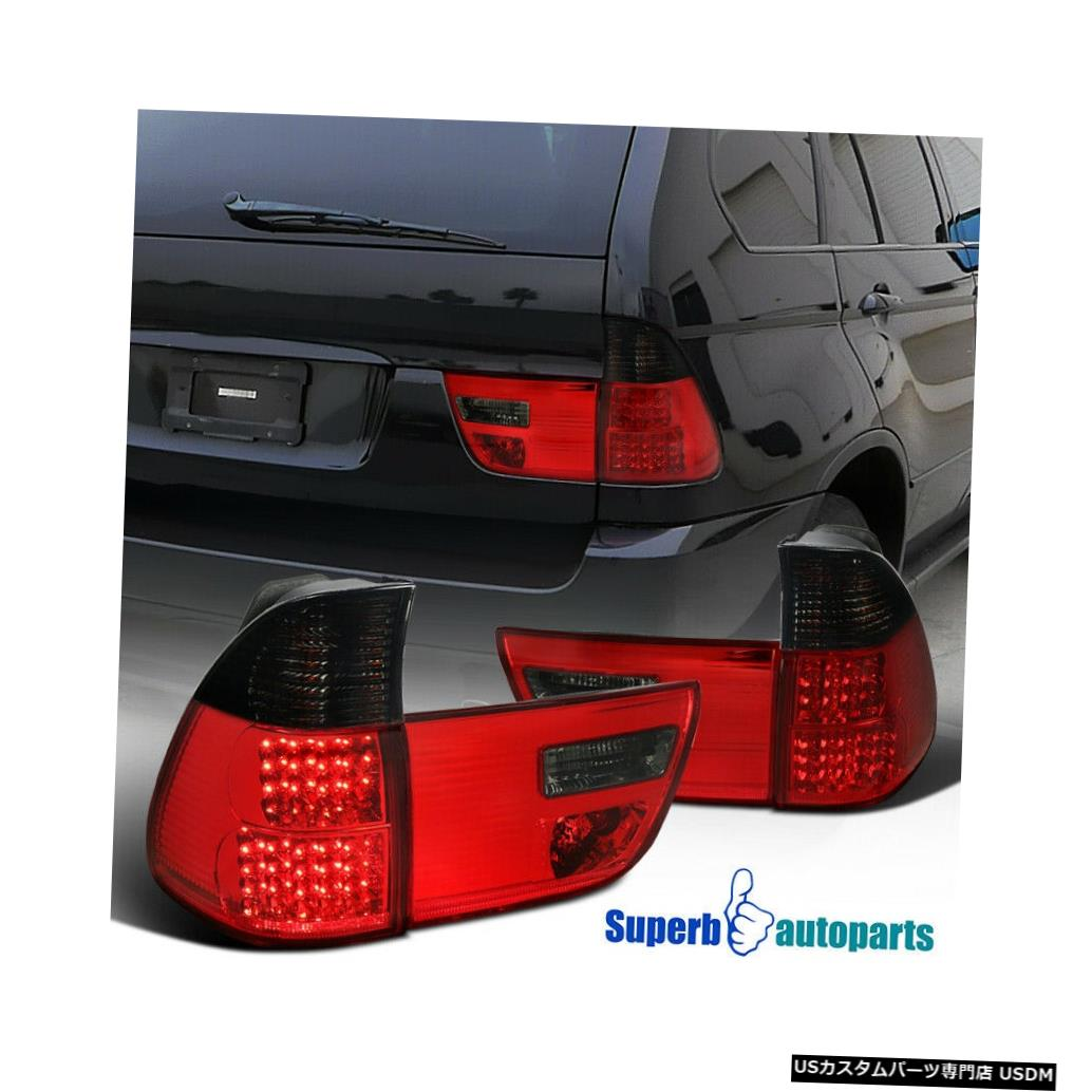 Tail light 2002-2006 BMW X5 E53スモークリアLEDレッドブレーキテールライトリバースランプL + R For 2002-2006 BMW X5 E53 Smoke Rear LED Red Brake Tail Lights Reverse Lamps L+R