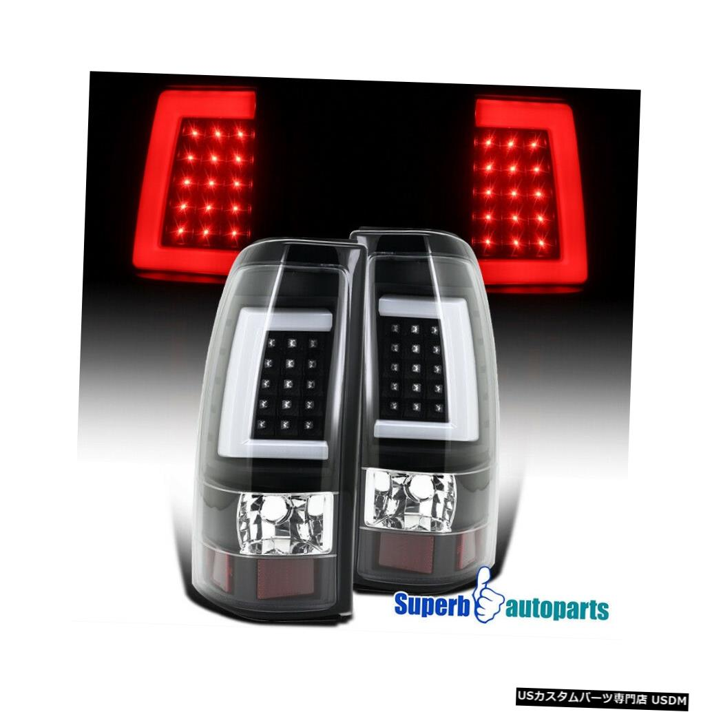 Tail light 2003-2006シェビーシルバラード2500 3500 LEDチューブブレーキテールライトブラックLH + RH For 2003-2006 Chevy Silverado 2500 3500 LED Tube Brake Tail Lights BLACK LH+RH