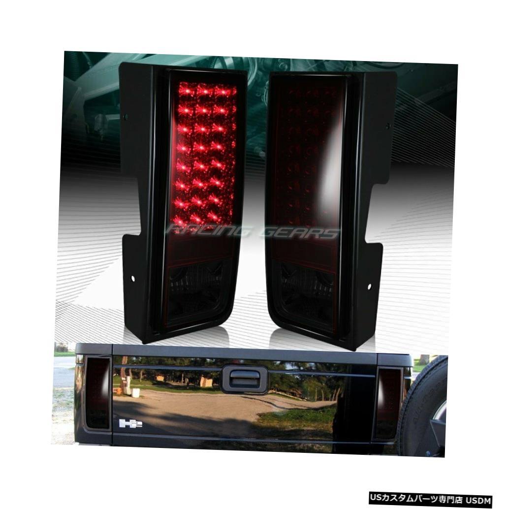 Tail light ハマーH2レッド/スモークレンズLEDリアブレーキストップテールライトランプペアLH + RH FOR HUMMER H2 RED/SMOKE LENS LED REAR BRAKE STOP TAIL LIGHTS LAMPS PAIRS LH+RH