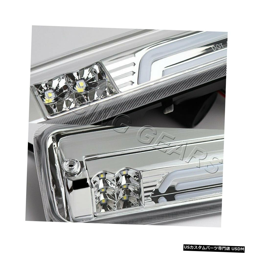 Tail light クロームクリアLEDバー3番目の3番目のブレーキライト+貨物ランプフィット04-08フォードF-150 F150 CHROME CLEAR LED BAR THIRD 3RD BRAKE LIGHT+CARGO LAMP FIT 04-08 FORD F-150 F150