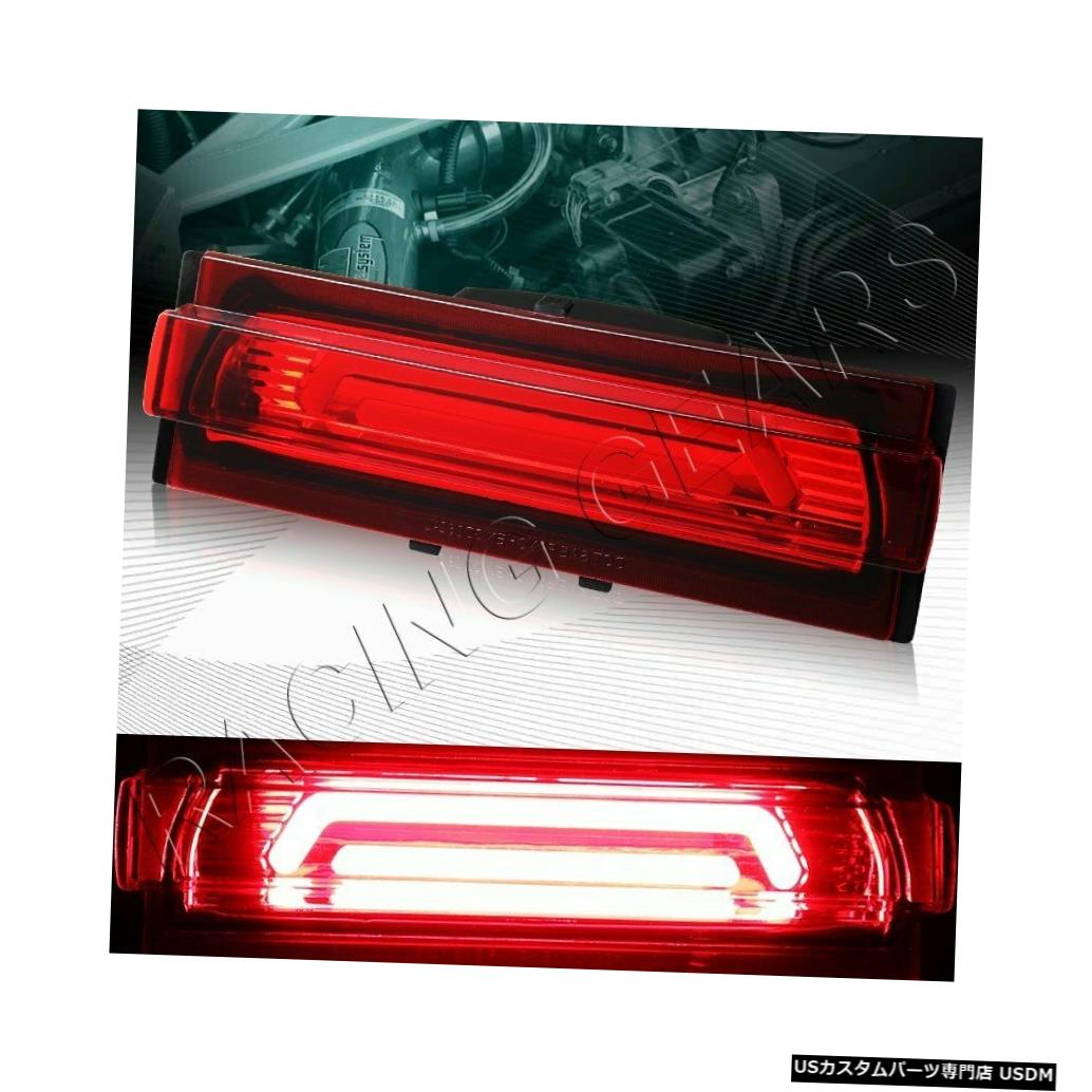 Tail light レッドレンズ3RD THIRD DRL LEDライトバーリアブレーキライトフィット91-96シボレーコルベット RED LENS 3RD THIRD DRL LED LIGHT BAR REAR BRAKE LIGHT FIT 91-96 CHEVY CORVETTE