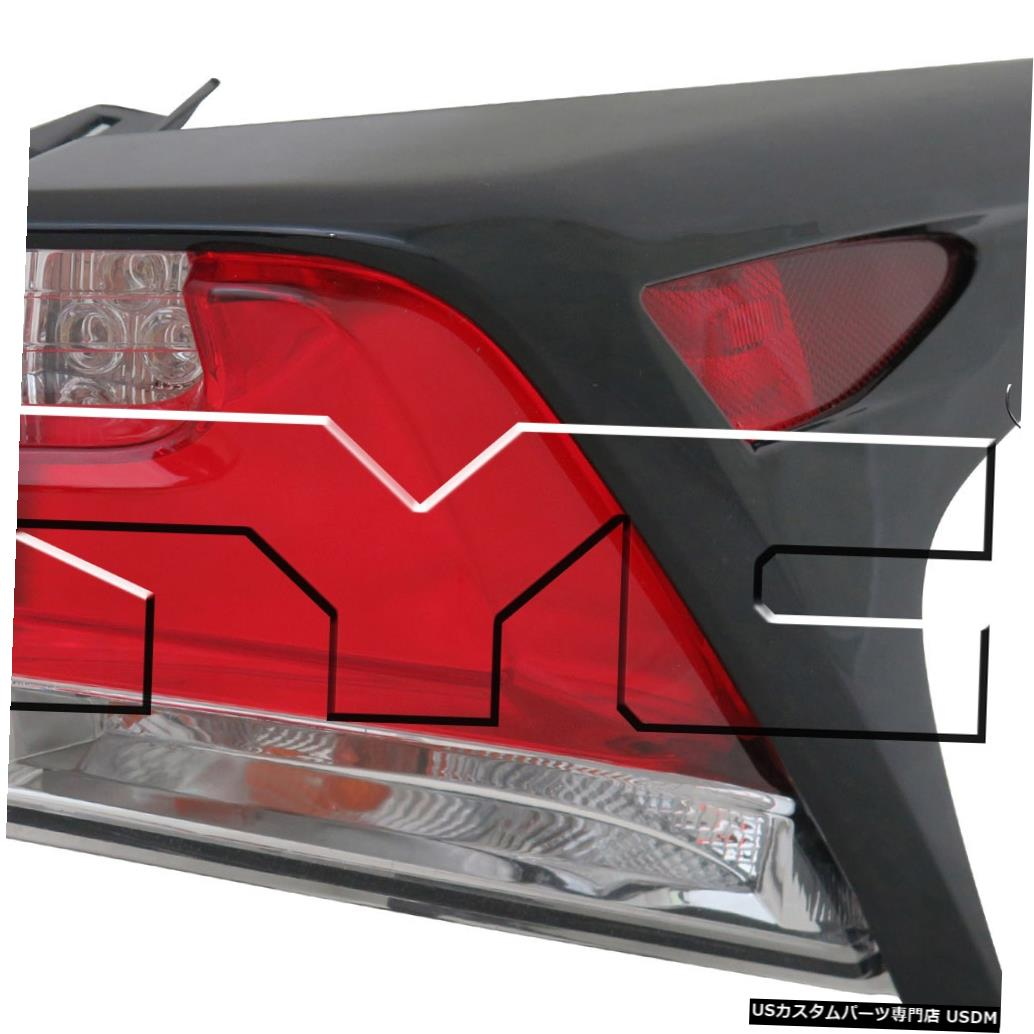 Tail light 15-17レクサスNX-200t / 300h用アウタークォーターLEDテールライトランプ右の乗客 Outer Quarter LED Tail Light Lamp Right Passenger for 15-17 Lexus NX-200t/300h