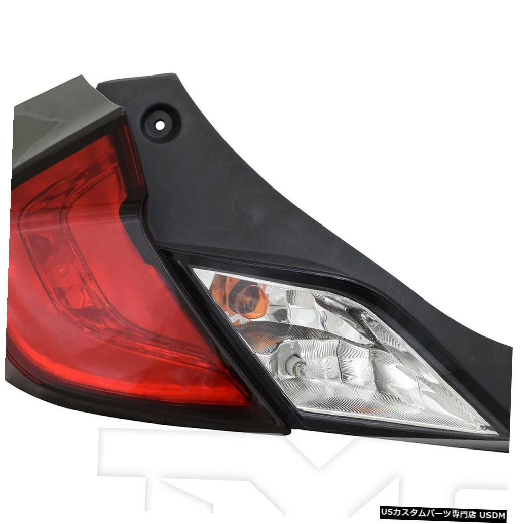 Tail light 16-19ホンダシビッククーペ用アウタークォーターテールライトリアランプ左ドライバー Outer Quarter Tail Light Rear Lamp Left Driver for 16-19 Honda Civic Coupe