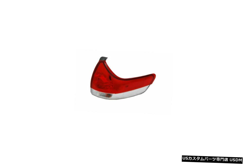 Tail light 11-14トヨタシエナ(SE以外)のアウタークォーターテールライトランプ右の乗客 Outer Quarter Tail Light Lamp Right Passenger for 11-14 Toyota Sienna (Non-SE)
