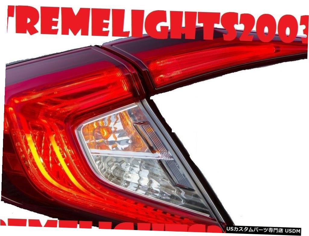 Tail light ホンダシビックセダン2016-2017左インナーアウターテールライトテールライトランプに適合 fits HONDA CIVIC SEDAN 2016-2017 LEFT INNER OUTER TAILLIGHTS TAIL LIGHTS LAMPS
