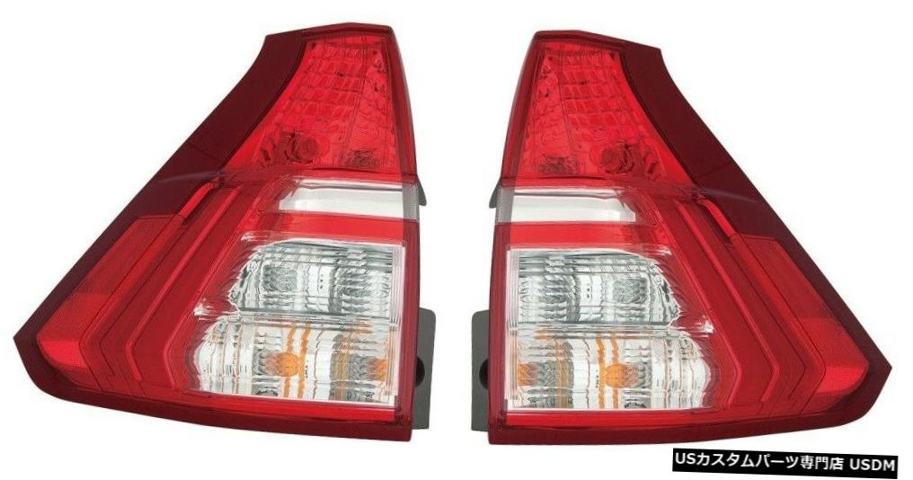Tail light ホンダCRV CR-V 2015 2016下部テールライトテールライトリアランプペア FITS HONDA CRV CR-V 2015 2016 LOWER TAILLIGHTS TAIL LIGHTS REAR LAMPS PAIR