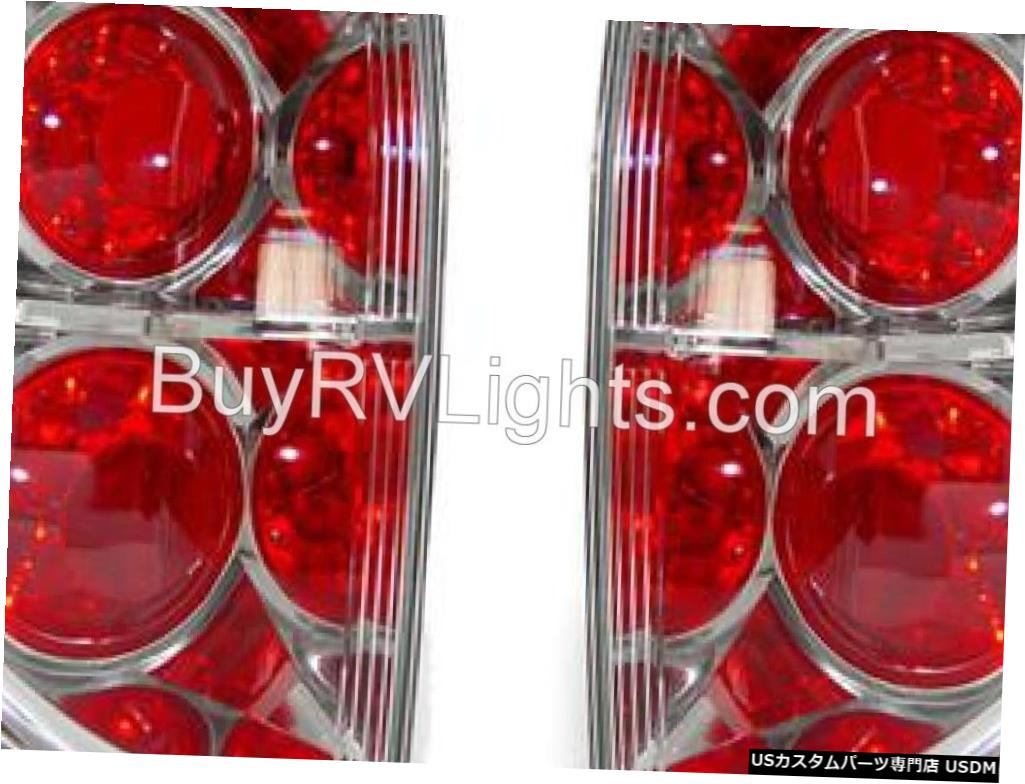 Tail light SAFARI CHEETAH 2007 2008セットペアレッドクリアテールライトテールライトリアランプRV SAFARI CHEETAH 2007 2008 SET PAIR RED CLEAR TAILLIGHTS TAIL LIGHTS REAR LAMPS RV