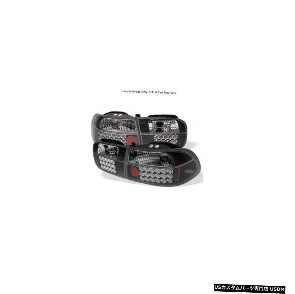 超激安 車用品 バイク用品 >> パーツ ライト 安い ランプ ブレーキ テールランプ Tail light Spyder 5004628 2 92-95 ブラック Honda 4 LED Black For 4ドア用LEDテールライト Lights Door Civic