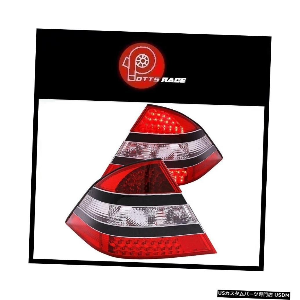 Tail light Anzo-ブラック/クロームレッドLEDテールライトはMercedes-Benz S430 2000-2005に適合 Anzo - Black/Chrome Red LED Tail Lights Fits Mercedes-Benz S430 2000-2005