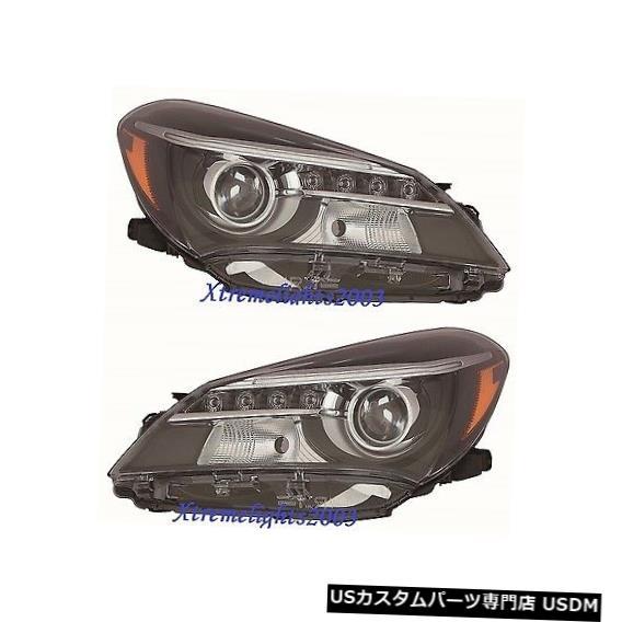 ヘッドライト TOYOTA YARIS HB 2015-2017ペア左SEヘッドライトヘッドライトランプW / LED TOYOTA YARIS HB 2015-2017 PAIR LEFT RIGHT SE HEADLIGHTS HEAD LIGHTS LAMPS W/LED