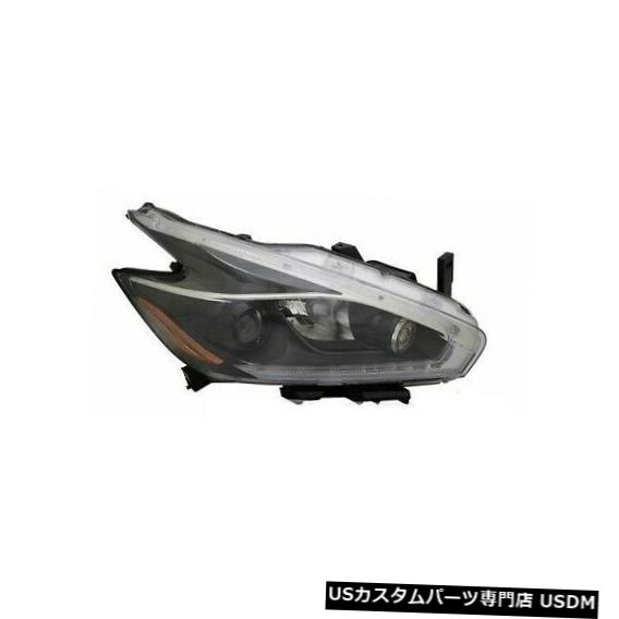 ヘッドライト FIT NISSAN MURANO 2018 RIGHT PASSENGER BLACK HEADLIGHT HEAD FRONT LAMP LIGHT FITS NISSAN MURANO 2018 RIGHT PASSENGER BLACK HEADLIGHT HEAD FRONT LAMP LIGHT