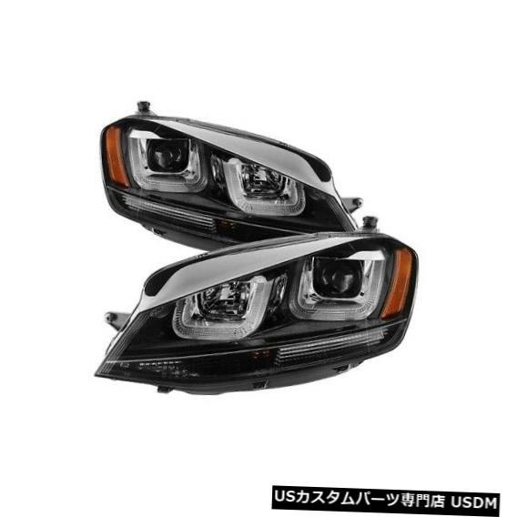 ヘッドライト スパイダー5080578 DRL LEDプロジェクターヘッドライトブラック15-16フォルクスワーゲンゴルフR NEW Spyder 5080578 DRL LED Projector Headlight Black For 15-16 Volkswagen Golf R NEW