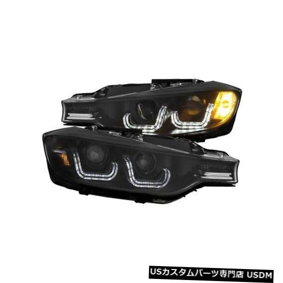 ヘッドライト Anzo 121504プロジェクターヘッドライトセット2個、Uバー付き14-15 BMW 335i xDrive用NEW Anzo 121504 Projector Headlight Set 2pc w/U-Bar For 14-15 BMW 335i xDrive NEW