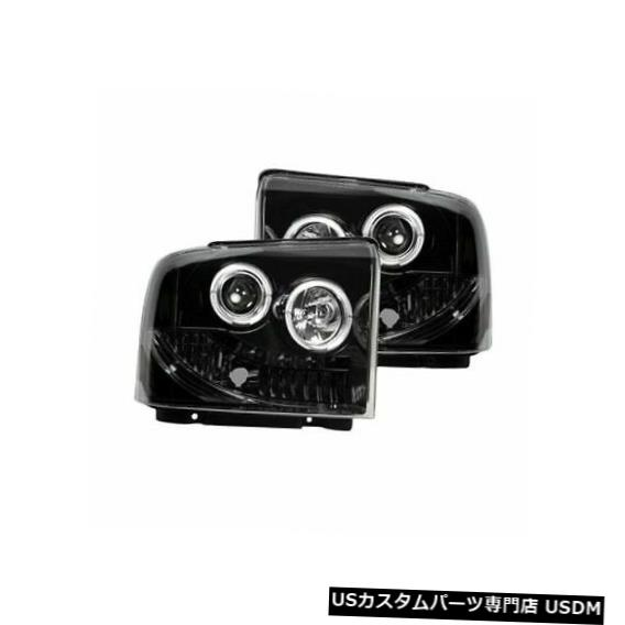 ヘッドライト Recon 264193BKスモークブラックプロジェクターヘッドライトキット、2005-07 Ford F250 F350用 Recon 264193BK Smoked Black Projector Headlights Kit for 2005-07 Ford F250 F350