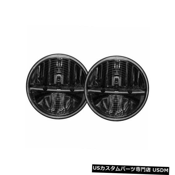ヘッドライト Rigid Industries 55004 PWMアダプター付き7インチラウンドヒーテッドヘッドライト(ペア)NEW Rigid Industries 55004 7 Inch Round Heated Headlight with PWM Adaptor (Pair) NEW