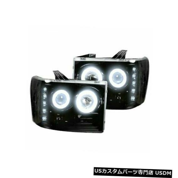 ヘッドライト Recon 264271BKCCスモークブラックプロジェクターヘッドライトキット(2007?2013 GMCシエラ用) Recon 264271BKCC Smoked Black Projector Headlights Kit for 2007-2013 GMC Sierra