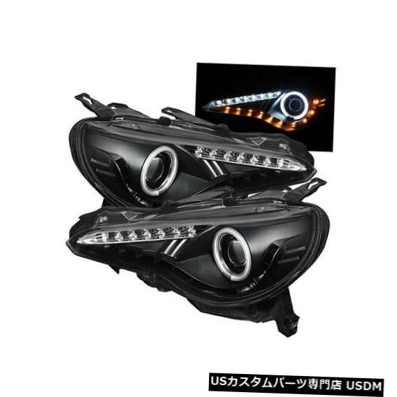 ヘッドライト Spyder 5075444 CCFL Halo DRL LEDプロジェクターヘッドライトブロック(13-14 BRZ用)NEW Spyder 5075444 CCFL Halo DRL LED Projector Headlight Blk For 13-14 BRZ NEW