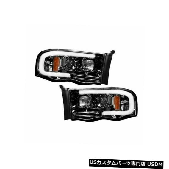 ヘッドライト Recon 264191BKC 2002-05 Dodge Ram 1500用スモークブラックプロジェクターヘッドライトキット Recon 264191BKC Smoked Black Projector Headlights Kit for 2002-05 Dodge Ram 1500