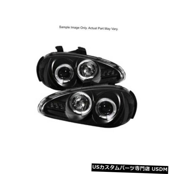 ヘッドライト スパイダー5011503 LEDハロープロジェクターヘッドライトブラック92-96マツダMX3 Spyder 5011503 LED Halo Projector Headlights Black For 92-96 Mazda MX3
