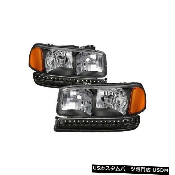 ヘッドライト xTune 9037399 99-04 Sierra 2500用LEDバンパーライト付きヘッドライトNEW xTune 9037399 Headlights w/LED Bumper Lights For 99-04 Sierra 2500 NEW