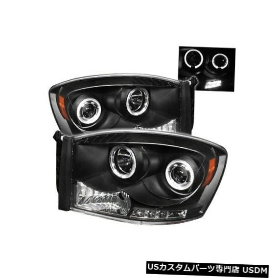 ヘッドライト Spyder 5010001 Halo LEDプロジェクターヘッドライトブラック06-09 Ram 3500 2pc NEW Spyder 5010001 Halo LED Projector Headlight Black For 06-09 Ram 3500 2pc NEW