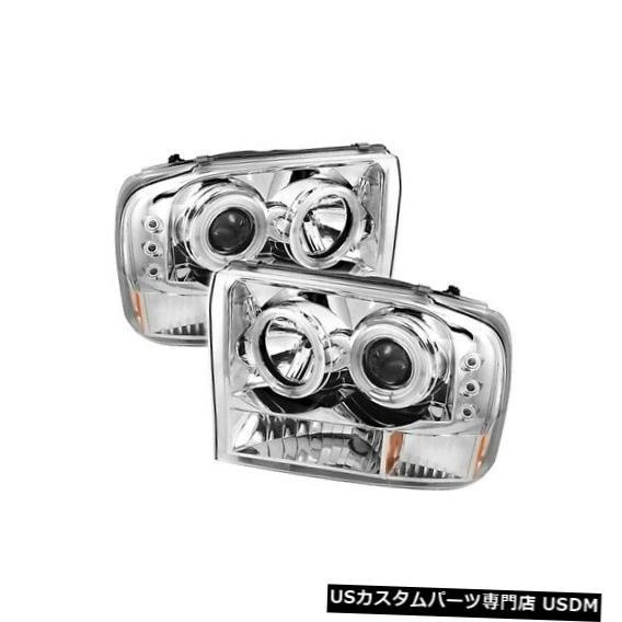 ヘッドライト スパイダー5030139 CCFL Halo LEDプロジェクターヘッドライトV2 2個99-04フォードF250用NEW Spyder 5030139 CCFL Halo LED Projector Headlights V2 2pc For 99-04 Ford F250 NEW