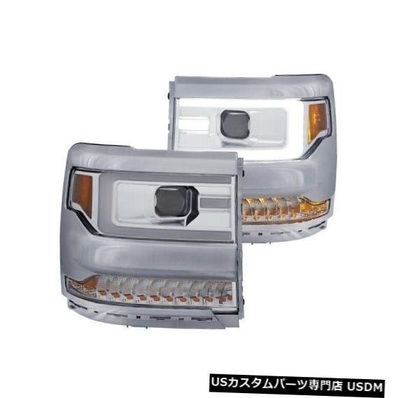 ヘッドライト Anzo 111374プロジェクターヘッドライトセットクリアレンズ(16-18 Silverado 1500用)NEW Anzo 111374 Projector Headlight Set Clear Lens For 16-18 Silverado 1500 NEW