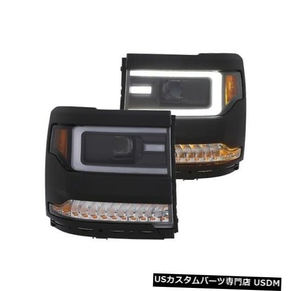 ヘッドライト Anzo 111373プロジェクターヘッドライトセットアンバーリフレクター16-18シルバラード1500 NEW Anzo 111373 Projector Headlight Set Amber Reflector For 16-18 Silverado 1500 NEW