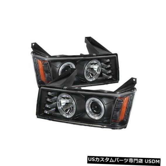 ヘッドライト Spyder 5074140 Halo LEDプロジェクターヘッドライトブラック(2004?2012 GMCキャニオン用)NEW Spyder 5074140 Halo LED Projector Headlights Black For 2004-2012 GMC Canyon NEW