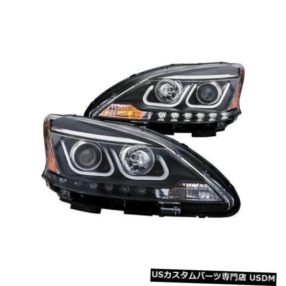 ヘッドライト Anzo 121487プロジェクターヘッドライトセット2個、Uバー付き13-15日産セントラNEW Anzo 121487 Projector Headlight Set 2pc w/U-Bar For 13-15 Nissan Sentra NEW