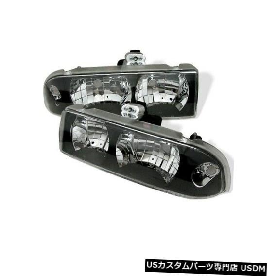 ヘッドライト スパイダー5012425クリスタルヘッドライトブラック1998-2005シボレーブレザー2ピースNEW Spyder 5012425 Crystal Headlights Black For 1998-2005 Chevrolet Blazer 2pc NEW