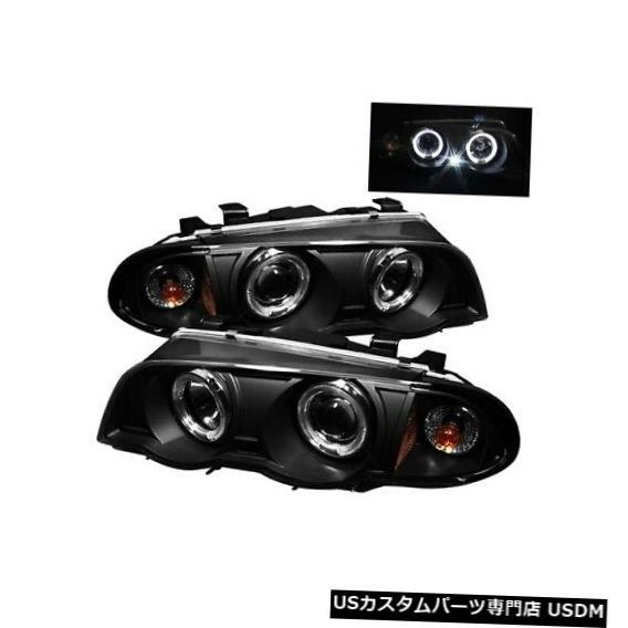 ヘッドライト スパイダー5008947ハローアンバープロジェクターヘッドライトブラック01-01 BMW 330xi 2pc NEW Spyder 5008947 Halo Amber Projector Headlights Black For 01-01 BMW 330xi 2pc NEW