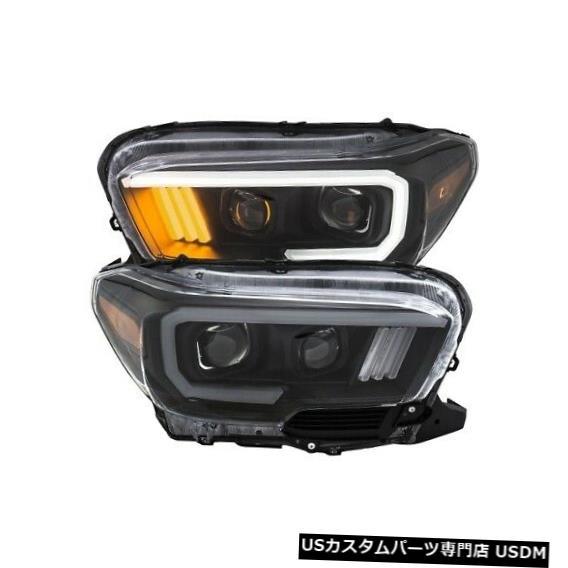 ヘッドライト Anzo 111379プロジェクターヘッドライトセットプランクスタイルブラック(16-19タコマ用)NEW Anzo 111379 Projector Headlight Set Plank Style Black For 16-19 Tacoma NEW