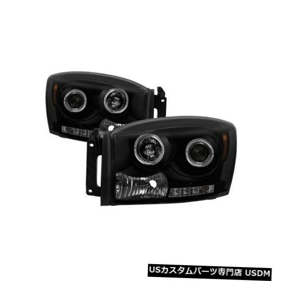 ヘッドライト スパイダー5078391ハローLEDプロジェクターヘッドライトブラック06-09ダッジラム3500 NEW Spyder 5078391 Halo LED Projector Headlights Black For 06-09 Dodge Ram 3500 NEW