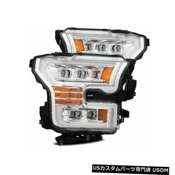 ヘッドライト Alpha Rex 880151 NOVA LEDヘッドライトクロームfor 2015-2020 Ford F150 Raptor NEW Alpha Rex 880151 NOVA LED Headlights Chrome For 201