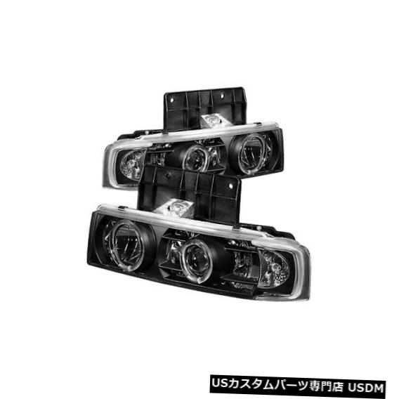ヘッドライト Spyder 5009210 Haloプロジェクターヘッドライトブラック2個、95-05シボレーアストロ用NEW Spyder 5009210 Halo Projector Headlights Black 2pc For 95-05 Chevrolet Astro NEW