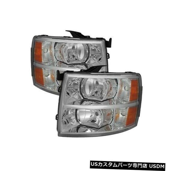 ヘッドライト XTune 5076984 2007-2014 Chevy Silverado 3500 HD用クリスタルヘッドライトブラックNEW XTune 5076984 Crystal Headlights Black For 2007-2014 Chevy Silverado 3500 HD NEW