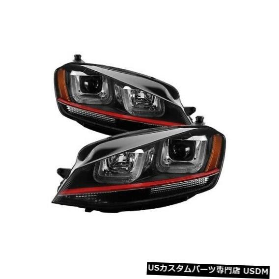 ヘッドライト Spyder 5080592 15-16フォルクスワーゲンゴルフRのDRL LEDプロジェクターヘッドライトブラックNEW Spyder 5080592 DRL LED Projector Headlight Black For 15-16 Volkswagen Golf R NEW