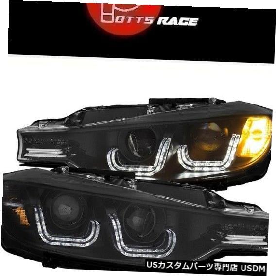 ヘッドライト Anzo 121504-ブラックLED Uバープロジェクターヘッドライトに適合 Anzo 121504 - Fits Black LED U-Bar Projector Headlights