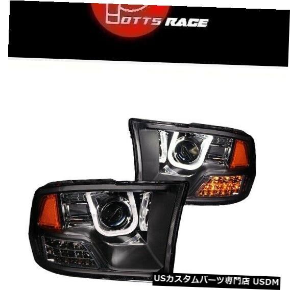 ヘッドライト アンゾブラックUバープロジェクターヘッドライト(LEDウインカー付き)Ram 1500 11-18 Anzo Black U-Bar Projector Headlights w LED Turn Signal Fits Ram 1500 11-18