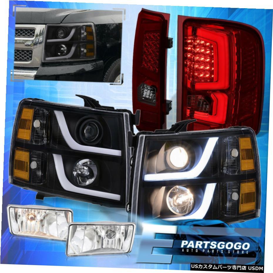 超美品の 7月13日シルバラードブラックツェッペリンDRLヘッドライト+スモークレッドテールライト+フォグライト用 Fog For 07-13 Silverado + Black Led Drl Headlights Light + Smoked Red Tail Light + Fog Light, LOVE GLITTER:768a2cb9 --- inglin-transporte.ch