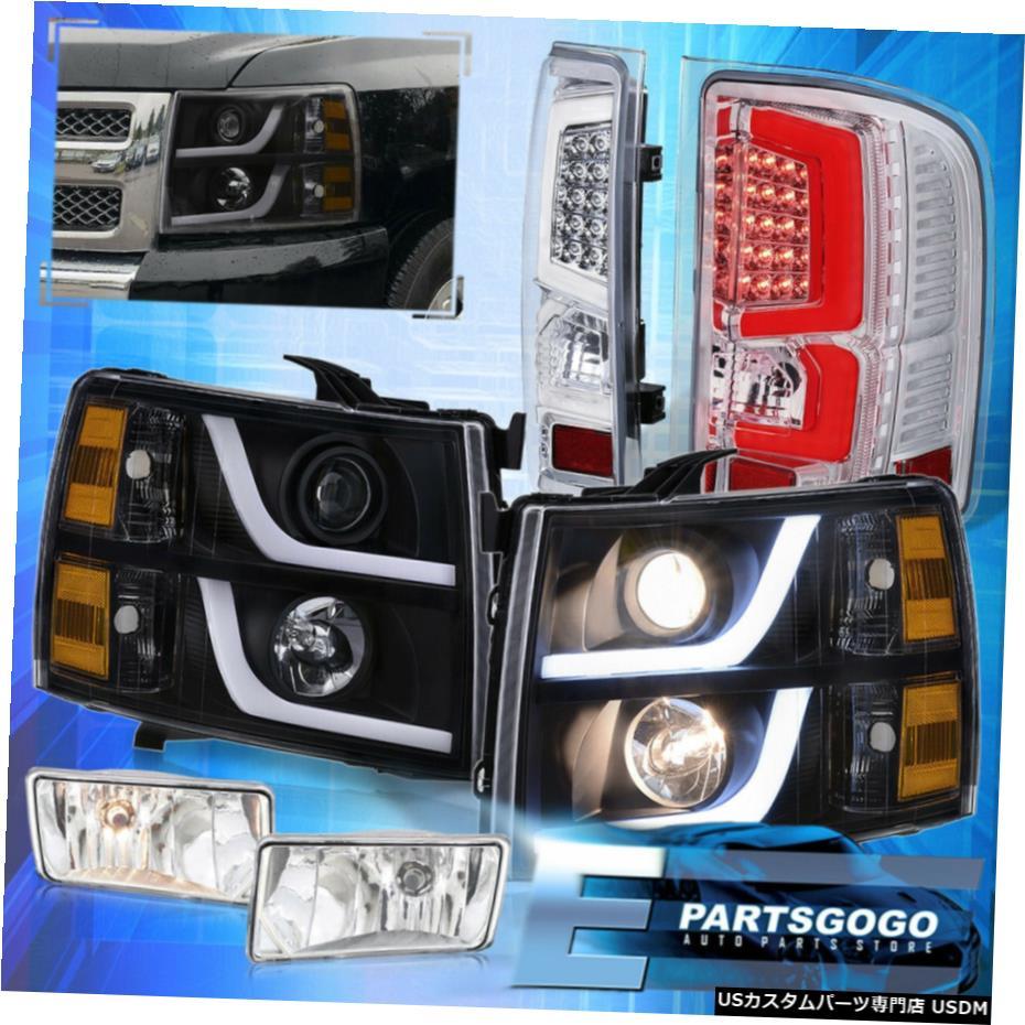 ファッションなデザイン 7月13日シルバラード黒黄色のLED DRLヘッドライトクリアテールライトフォグライト用 For 07-13 Lights Silverado Black Amber Led For Drl Fog Headlights Clear Tail Lights Fog Light, 八戸市:ce152e84 --- inglin-transporte.ch