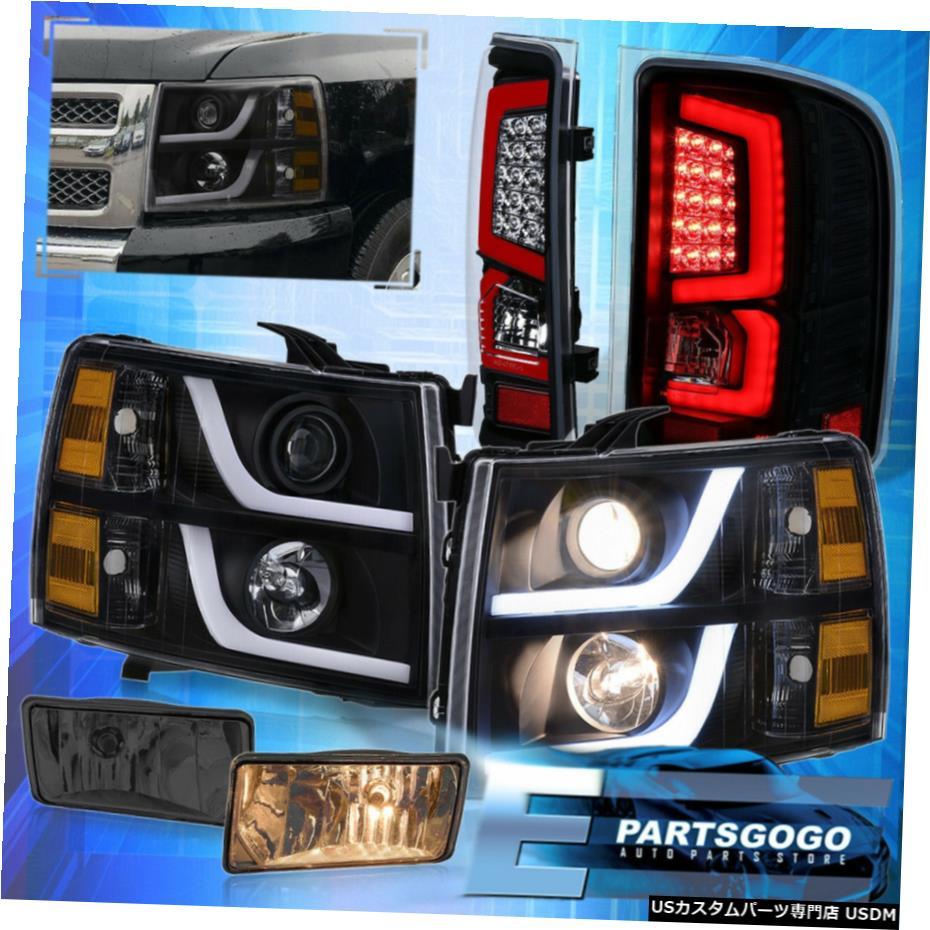 最高品質の 7月13日シルバラードブラックアンバーDRLヘッドライトをLedテールライトの霧ランプスモーク For 07-13 Silverado Black Amber Amber Drl Lamps Headlights Led Tail Tail Lights Smoke Fogs Lamps, Michael.Anne:a56c49e4 --- inglin-transporte.ch
