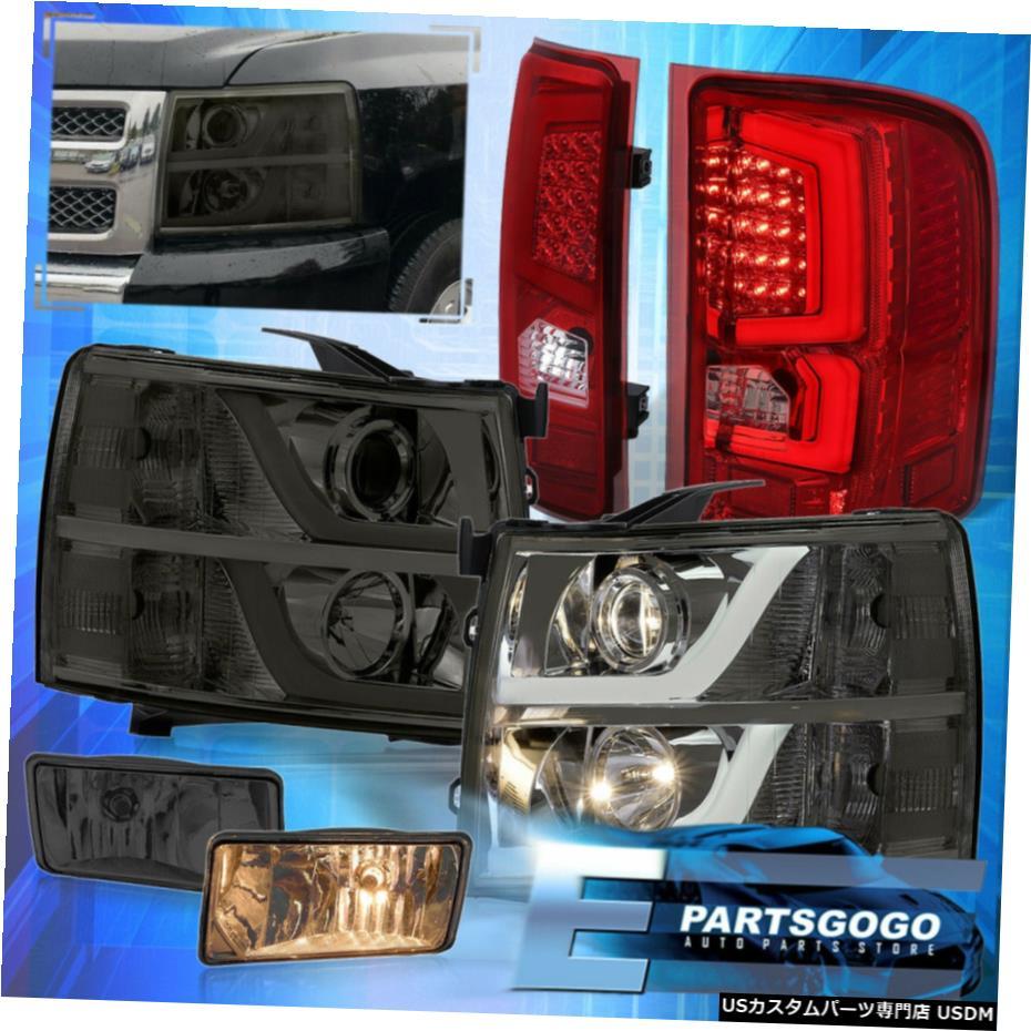 格安販売の 7月13日シルバラードリフレクターDRLスモークヘッドライトレッドテールライト+煙霧のために Reflector For 07-13 Silverado Reflector DRL Silverado Smoked Smoked Headlights Red Tail Lights + Smoke Fogs, タオルショップ ブルーム:87fe2b94 --- superbirkin.com