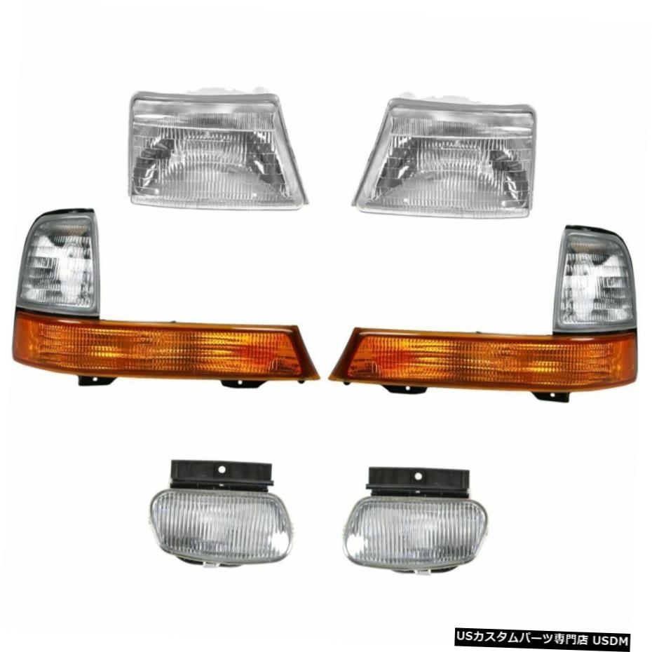 <title>車用品 バイク用品 >> パーツ ライト ランプ フォグランプ デイランプ 98から00フォードレンジャートラック新のためのヘッドライトフォグランプパーキングライト6ピースキットセット Headlight Fog Lamp 希望者のみラッピング無料 Parking Light 6 Piece Kit Set for 98-00 Ford Ranger Truck New</title>