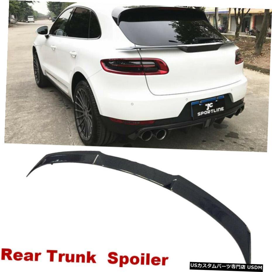 経典ブランド エアロパーツ Carbon フィット感のためのポルシェ Macan・マカン14-20リアスポイラー中東テールトランクリップウィングカーボンファイバー Fit For Porsche Macan 14-20 Wing Rear Middle Spoiler Tail Trunk Lip Wing Carbon Fiber, 名入れボールゴルフギフトゴルゴル:b034e9f6 --- inglin-transporte.ch