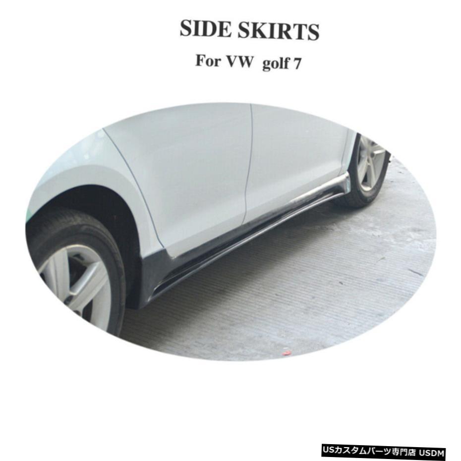 【福袋セール】 エアロパーツ 2PCSカーボンファイバーサイドスカートエクステンションスポイラーフィット感のためのVWゴルフ7 MK 7 VII 2PCS 14-17 14-17 2PCS Fit Carbon Fiber Side Skirt Extensions Spoiler Fit For VW Golf 7 MK 7 VII 14-17, 愛媛うまいもの販売:00d65cbd --- kventurepartners.sakura.ne.jp