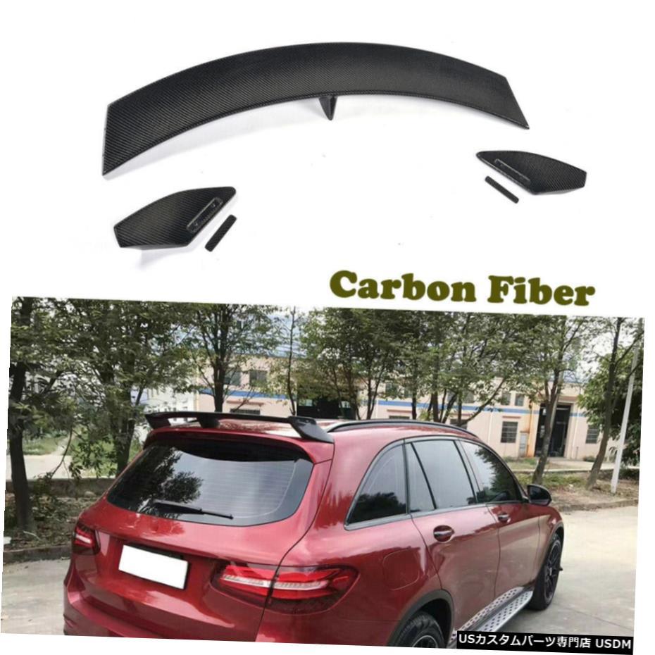 日本 車用品 バイク用品 >> パーツ 外装 エアロパーツ その他 ベンツX253 GLC300 GLC43 GLC63 16-19リアルーフスポイラートップウィングカーボンファイバーの場合 16-19 Top Rear Benz 新商品 Fiber Wing X253 Spoiler Roof Carbon For