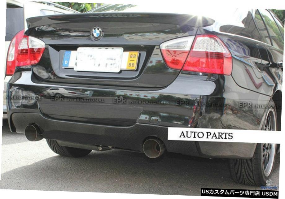<title>車用品 バイク用品 >> パーツ 外装 エアロパーツ その他 カーボンファイバーのためにBMW E90 3シリーズM-テックリアディフューザースプリッタリップツインエキゾースト Carbon Fiber For BMW 3 Series M-Tech [正規販売店] Rear Diffuser Splitter Lip Twin Exhaust</title>